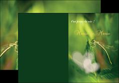 imprimerie depliant 2 volets  4 pages  faire part de mariage carte de mariage invitation mariage MLGI34446