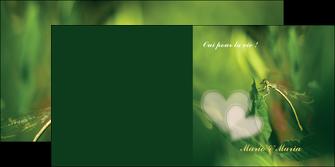 cree depliant 2 volets  4 pages  faire part de mariage carte de mariage invitation mariage MLGI34450