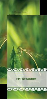 personnaliser maquette flyers faire part de naissance carte pour naissance feuilles MIF34466