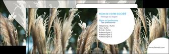 imprimer carte de visite paysage fleurs champs nature MLGI34618