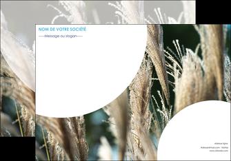 creation graphique en ligne affiche paysage fleurs champs nature MLGI34620