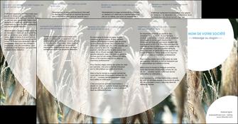 modele depliant 4 volets  8 pages  paysage fleurs champs nature MLGI34622
