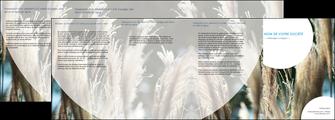 imprimerie depliant 4 volets  8 pages  paysage fleurs champs nature MLGI34628