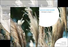 modele depliant 2 volets  4 pages  paysage fleurs champs nature MLGI34630