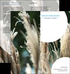 creation graphique en ligne depliant 2 volets  4 pages  paysage fleurs champs nature MLGI34632