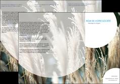 cree depliant 3 volets  6 pages  paysage fleurs champs nature MLGI34636