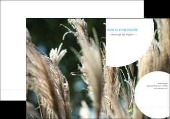 exemple pochette a rabat paysage fleurs champs nature MLGI34646