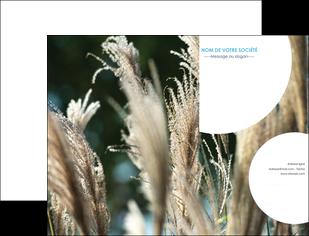 maquette en ligne a personnaliser pochette a rabat paysage fleurs champs nature MLGI34648