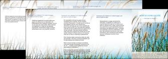 exemple depliant 4 volets  8 pages  paysage nature champs fleurs MLGI34660