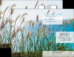 personnaliser modele de carte de visite paysage nature champs fleurs MLGI34670