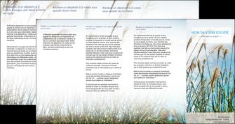 creation graphique en ligne depliant 4 volets  8 pages  paysage nature champs fleurs MLGI34672