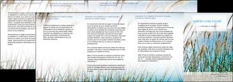 personnaliser modele de depliant 4 volets  8 pages  paysage nature champs fleurs MLGI34674