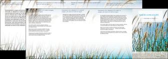 maquette en ligne a personnaliser depliant 4 volets  8 pages  paysage nature champs fleurs MLGI34676