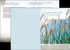 creation graphique en ligne depliant 2 volets  4 pages  paysage nature champs fleurs MLGI34678