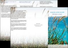 cree depliant 3 volets  6 pages  paysage nature champs fleurs MLGI34684