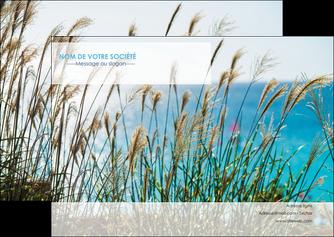 imprimerie flyers paysage nature champs fleurs MLGI34686