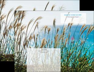 personnaliser maquette pochette a rabat paysage nature champs fleurs MLGI34694