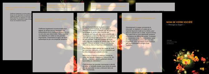 creation graphique en ligne depliant 4 volets  8 pages  fleuriste et jardinage fleur luxe noire MLGI34786