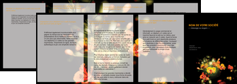 creation graphique en ligne depliant 4 volets  8 pages  fleuriste et jardinage fleur luxe noire MLIG34786