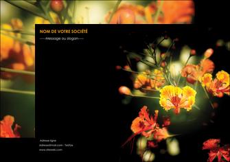 modele en ligne flyers fleuriste et jardinage fleur luxe noire MIF34788