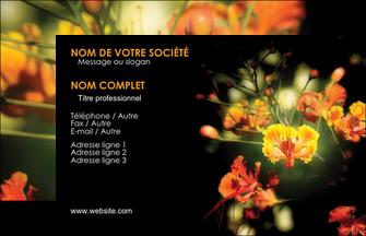 cree carte de visite fleuriste et jardinage fleur luxe noire MIF34790