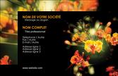 cree carte de visite fleuriste et jardinage fleur luxe noire MLGI34790