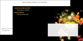 creation graphique en ligne enveloppe fleuriste et jardinage fleur luxe noire MLIG34794