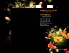 cree carte de visite fleuriste et jardinage fleur luxe noire MIF34796