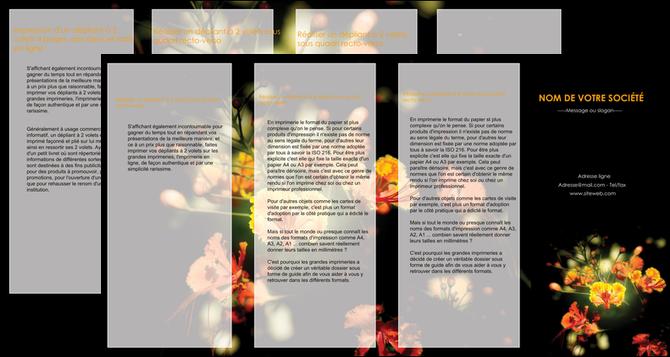 imprimerie depliant 4 volets  8 pages  fleuriste et jardinage fleur luxe noire MLGI34798