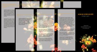 imprimerie depliant 4 volets  8 pages  fleuriste et jardinage fleur luxe noire MIF34798