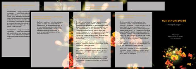 imprimer depliant 4 volets  8 pages  fleuriste et jardinage fleur luxe noire MLGI34800