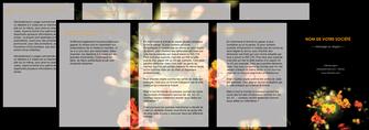 imprimer depliant 4 volets  8 pages  fleuriste et jardinage fleur luxe noire MIF34800