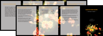 creation graphique en ligne depliant 4 volets  8 pages  fleuriste et jardinage fleur luxe noire MLIG34802