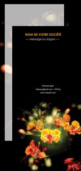 imprimerie flyers fleuriste et jardinage fleur luxe noire MIF34806