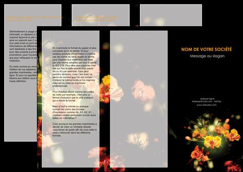 maquette en ligne a personnaliser depliant 3 volets  6 pages  fleuriste et jardinage fleur luxe noire MLGI34810