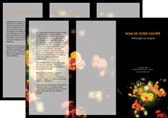 maquette en ligne a personnaliser depliant 3 volets  6 pages  fleuriste et jardinage fleur luxe noire MIF34810