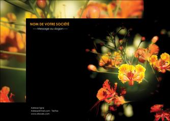 exemple flyers fleuriste et jardinage fleur luxe noire MIF34812