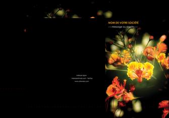 imprimer pochette a rabat fleuriste et jardinage fleur luxe noire MLIG34816