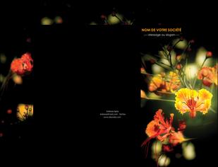 impression pochette a rabat fleuriste et jardinage fleur luxe noire MIF34818