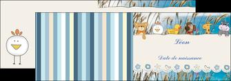 creation graphique en ligne depliant 2 volets  4 pages  faire part de naissance carte de naissance carton invitation naissance MIF34822