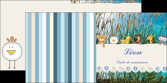 personnaliser modele de depliant 2 volets  4 pages  faire part de naissance carte de naissance carton invitation naissance MIF34826