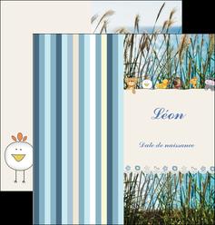 realiser depliant 2 volets  4 pages  faire part de naissance carte de naissance carton invitation naissance MLGI34828