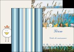 personnaliser maquette depliant 2 volets  4 pages  faire part de naissance carte de naissance carton invitation naissance MLIG34832