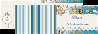 creer modele en ligne depliant 2 volets  4 pages  faire part de naissance carte de naissance carton invitation naissance MIF34834