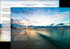 faire depliant 3 volets  6 pages  sejours mer nature ciel MID34842