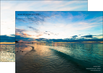 exemple affiche sejours mer nature ciel MID34846
