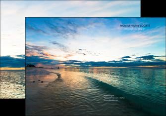 personnaliser maquette pochette a rabat sejours mer nature ciel MID34856