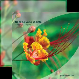 creation graphique en ligne flyers fleuriste et jardinage nature colore couleurs MLGI34904