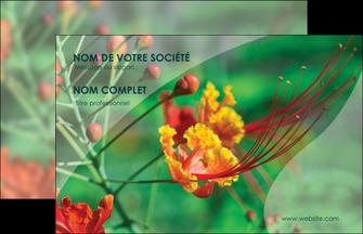 realiser carte de visite fleuriste et jardinage nature colore couleurs MLGI34908