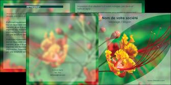 faire modele a imprimer depliant 2 volets  4 pages  fleuriste et jardinage nature colore couleurs MLGI34910